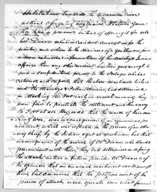Talbot Chambers to Alexander Macomb, January 20, 1817