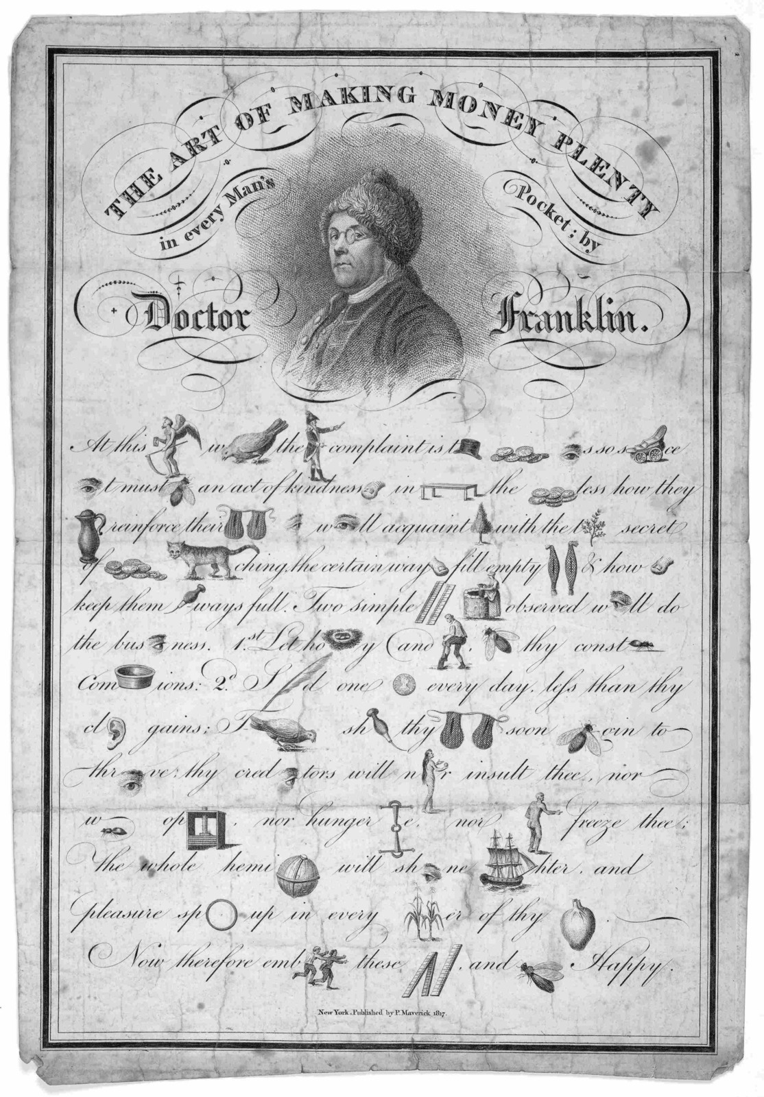 The art of making money plenty in every man's pocket by Doctor Franklin. New York Published by P. Maverick, 1817.
