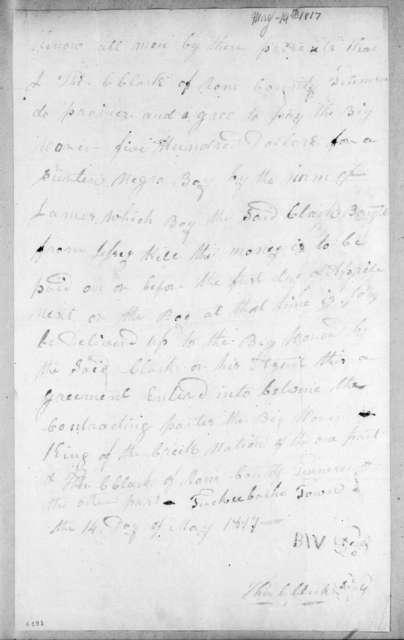 Thomas C. Clark to Big Warrior, May 14, 1817