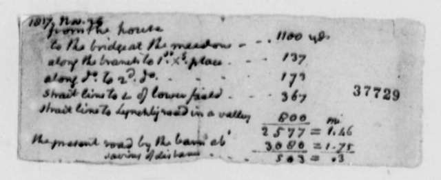 Thomas Jefferson, November 25, 1817, Survey of Roads