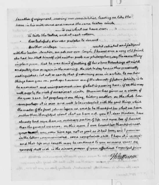 Thomas Jefferson to Abigail Smith Adams, January 11, 1817