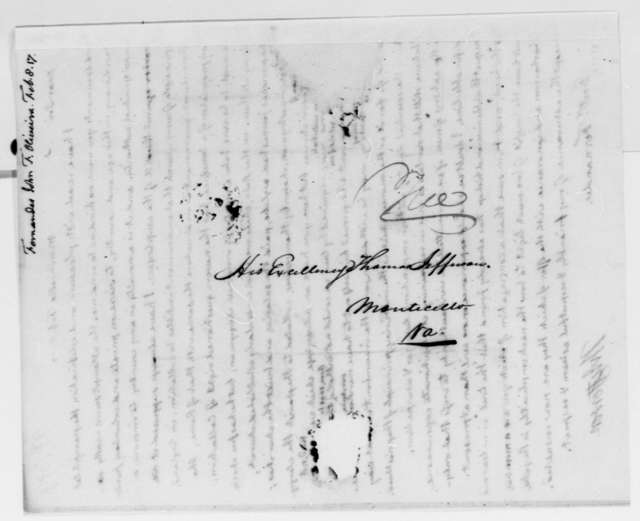 Thomas Jefferson to Fernandez Oliviera, February 8, 1817