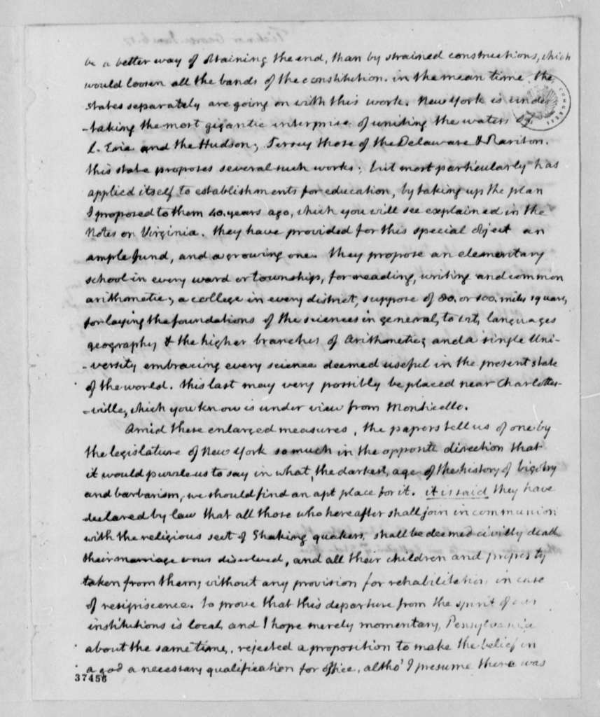 Thomas Jefferson to George Ticknor, June 6, 1817