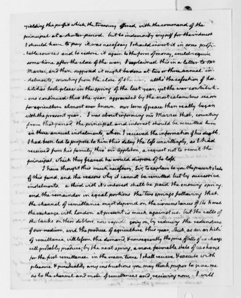 Thomas Jefferson to Giovanni Carmignani, July 18, 1817