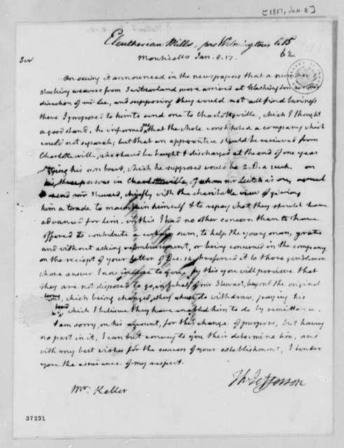 Thomas Jefferson to J. Keller, January 8, 1817