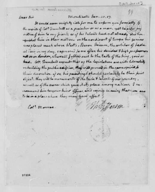 Thomas Jefferson to James Monroe, January 10, 1817