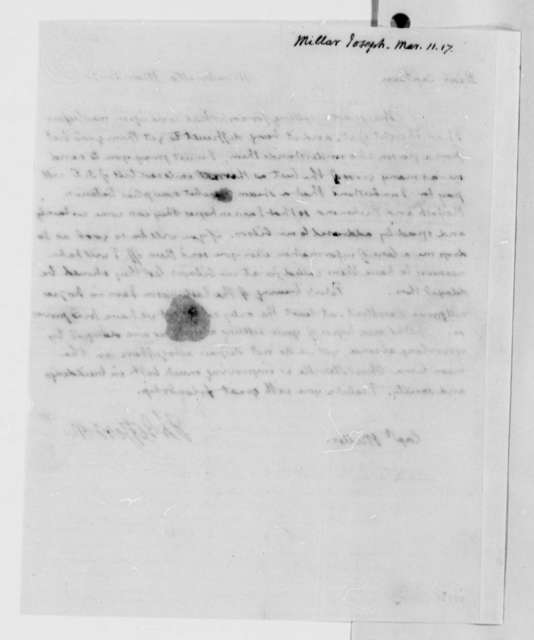 Thomas Jefferson to Joseph Miller, March 11, 1817
