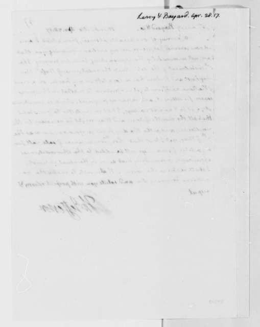 Thomas Jefferson to Leroy-Bayard & Company, April 28, 1817