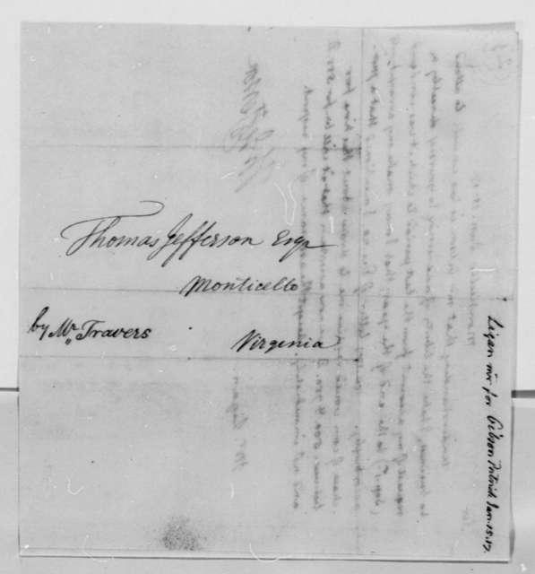 Thomas Jefferson to Ligan, January 15, 1817, to Lignan in Patrick Gibson's Illness