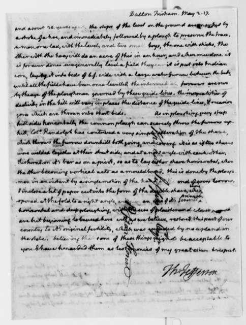 Thomas Jefferson to Tristram Dalton, May 2, 1817