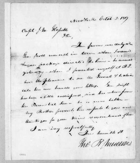 Thomas P. Mercein to James McMillan Glassell, October 3, 1817