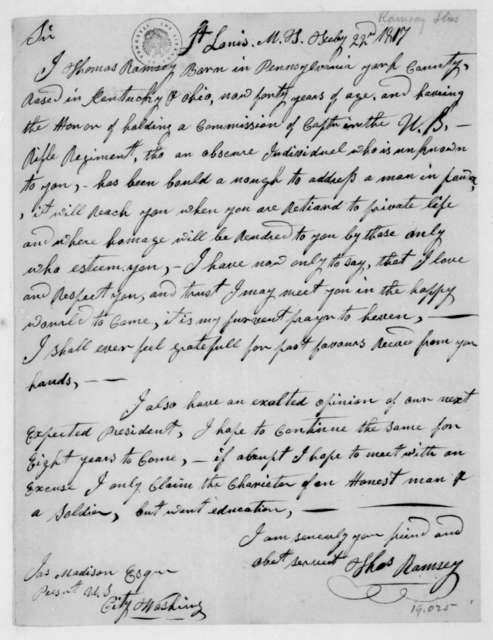 Thomas Ramsey to James Madison, February 22, 1817.