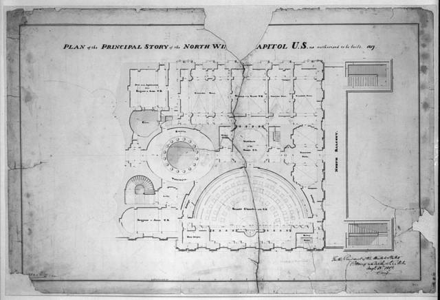 [United States Capitol, Washington, D.C. Principle story - plan, Senate chamber & common vestibule]