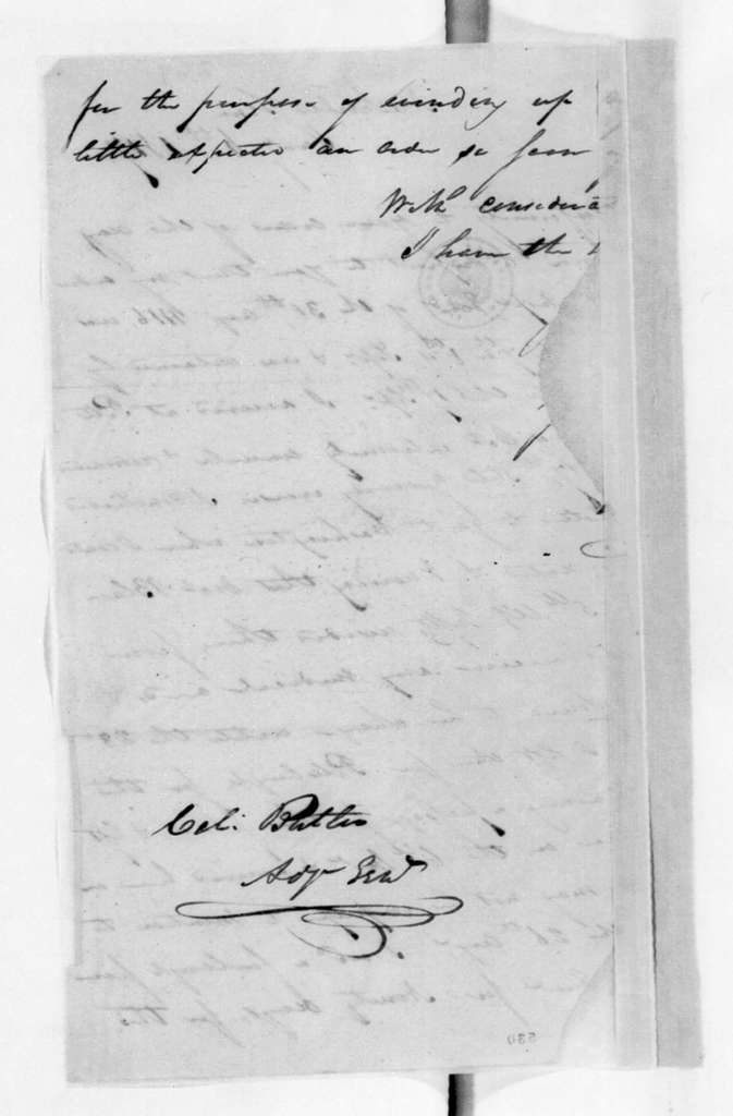 Unknown to Robert Butler, January 6, 1817