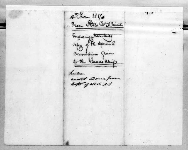 William Allen Trimble to Andrew Jackson, June 4, 1817