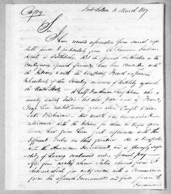 William Allen Trimble to Eleazar Wheelock Ripley, March 10, 1817