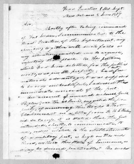 William Allen Trimble to Robert Butler, December 5, 1817