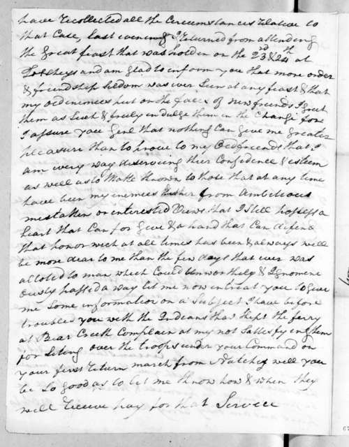 William Cocke to Andrew Jackson, August 25, 1817