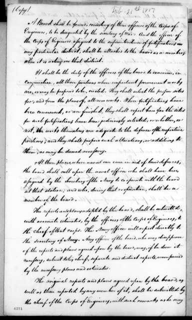 William Harris Crawford, February 21, 1817