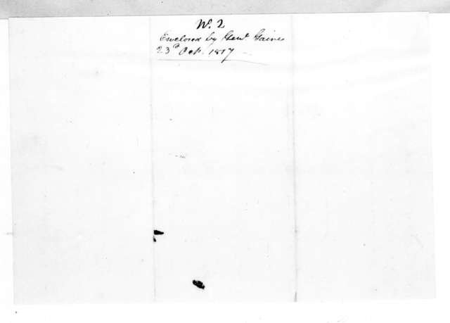 William Rabin to Edmund Pendleton Gaines, September 17, 1817