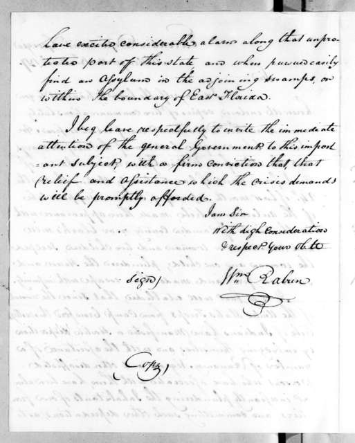 William Rabin to Unknown, March 18, 1817