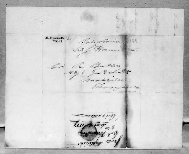 William Southerland Hamilton to Robert Butler, March 8, 1817