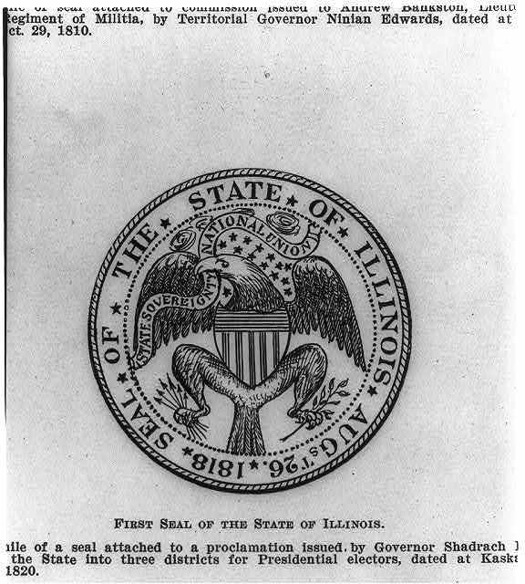 [1st] Seal of the State of Illinois