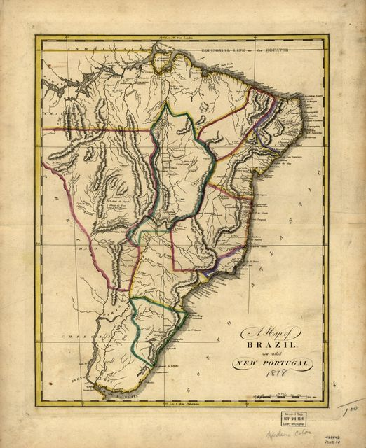 A map of Brazil, now called New Portugal.