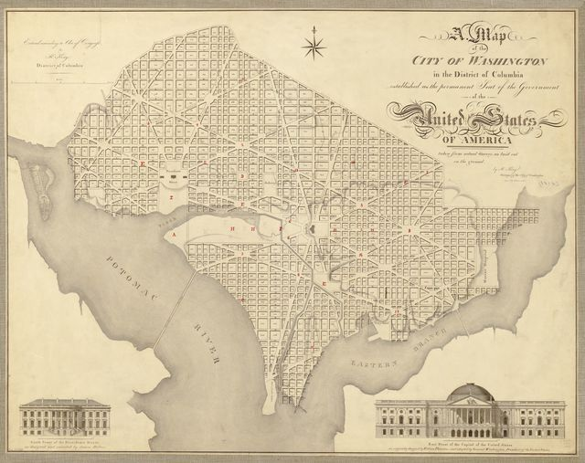 A map of the city of Washington in the District of Columbia : established as the permanent seat of the government of the United States of America /