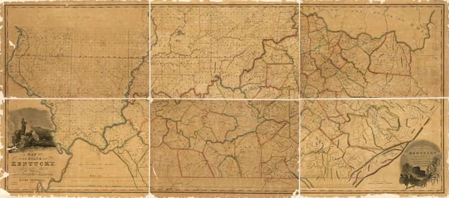 A map of the State of Kentucky : from actual survey ; also part of Indiana and Illinois /