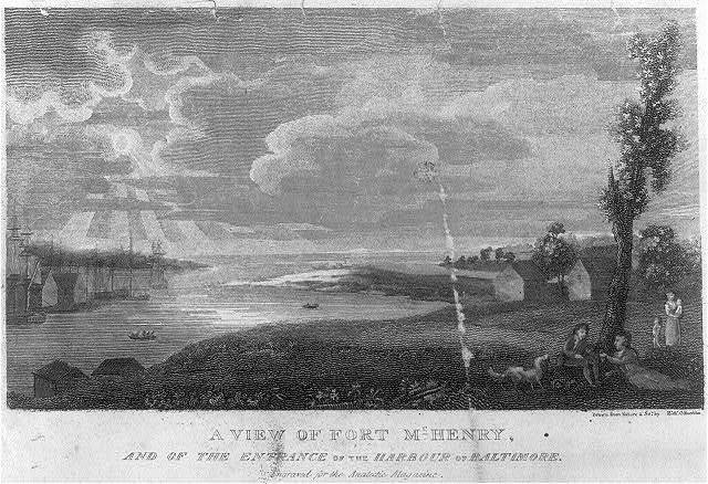 A view of Fort McHenry, and the entrance of the harbour of Baltimore / drawn from nature & sc. by Richd. Harrison.