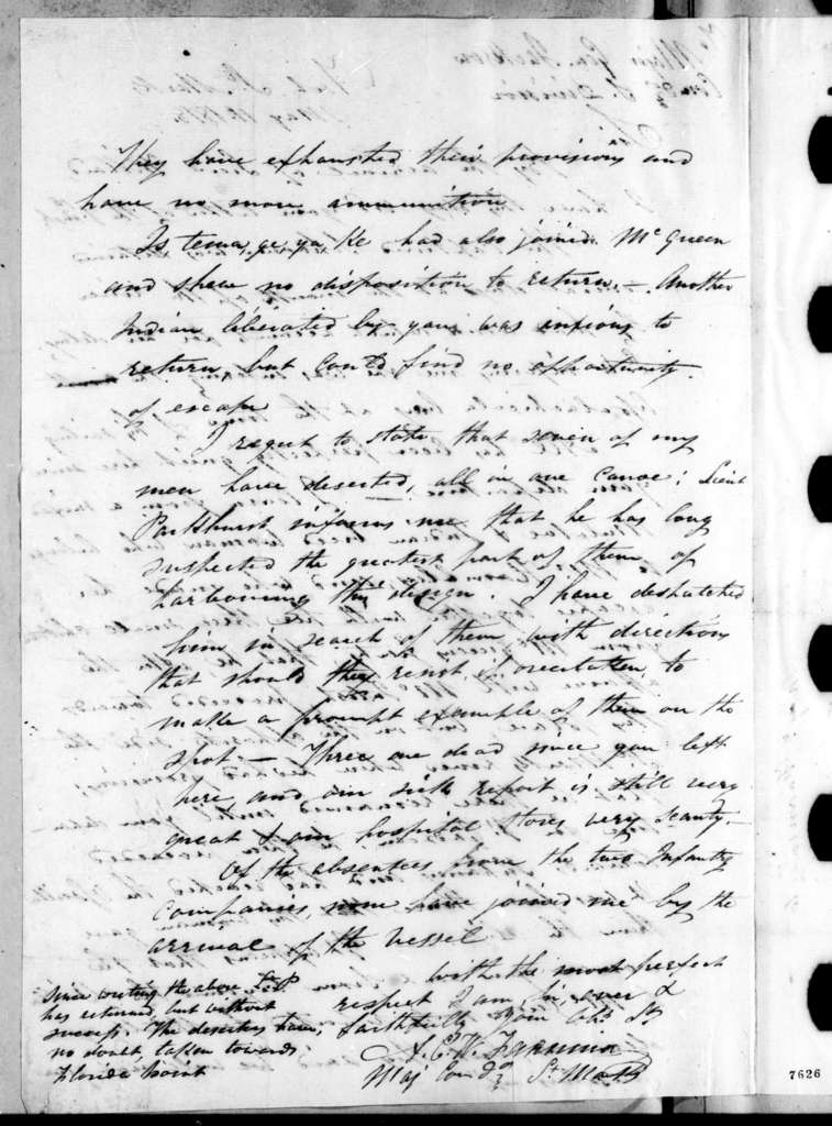 Alexander Campbell Wilder Fanning to Andrew Jackson, May 11, 1818