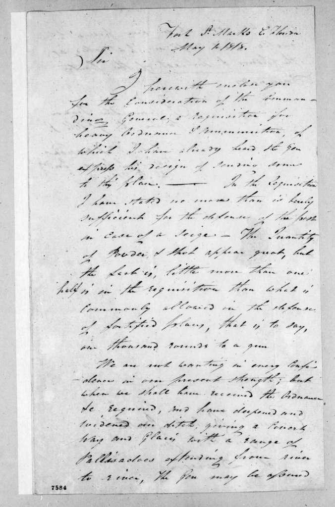 Alexander Campbell Wilder Fanning to Robert Butler, May 1, 1818