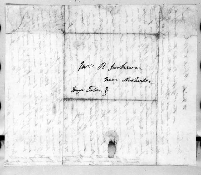 Andrew Jackson to Rachel Donelson Jackson, April 8, 1818