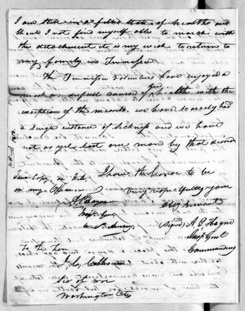 Arthur Peronneau Hayne to John Caldwell Calhoun, March 28, 1818