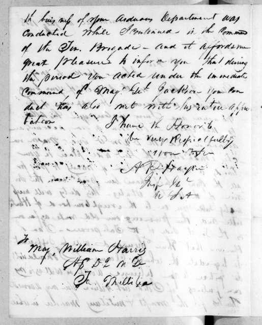 Arthur Peronneau Hayne to William Harris, July 11, 1818