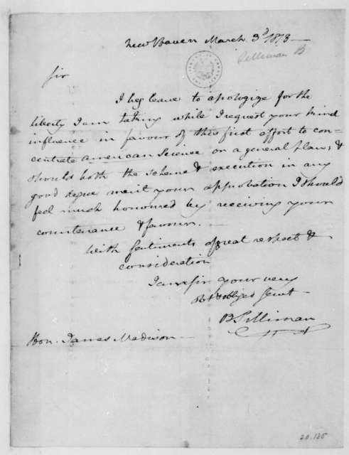 B. Silliman to James Madison, March 3, 1818.