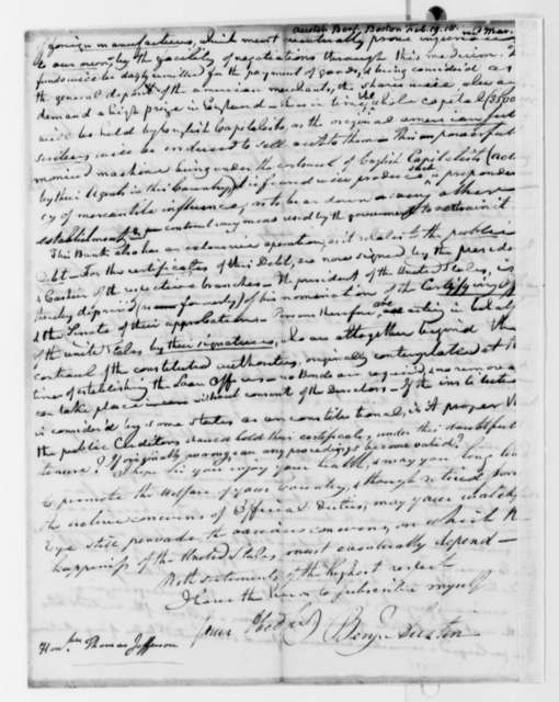 Benjamin Austin to Thomas Jefferson, February 19, 1818