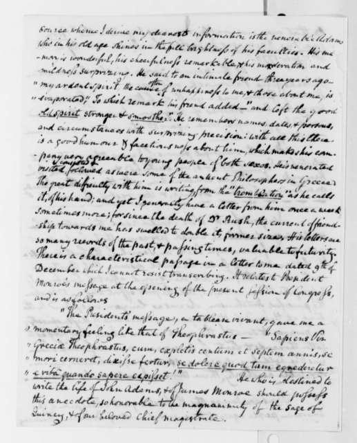 Benjamin Waterhouse to Thomas Jefferson, February 26, 1818