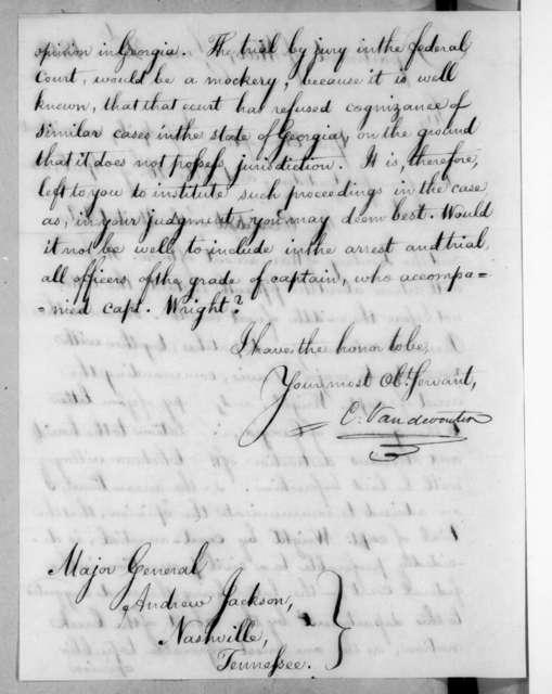 Christopher Vandeventer to Andrew Jackson, June 2, 1818