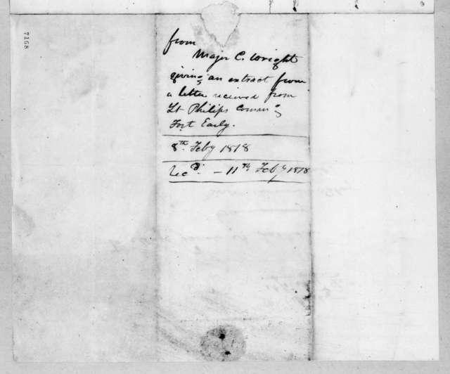 Clinton Wright to Andrew Jackson, February 8, 1818