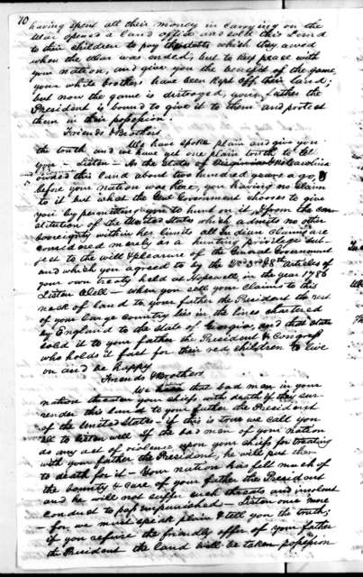Confidential Journal - Chickasaw Indian Treaty. Signed by Robert Butler, Isaac Shelby and Andrew Jackson , October 20, 1818
