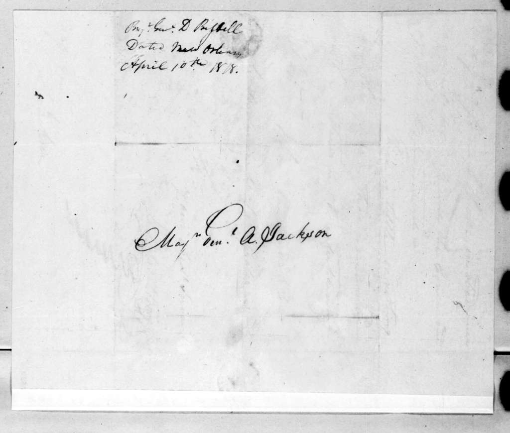 Daniel Bissell to Andrew Jackson, April 10, 1818