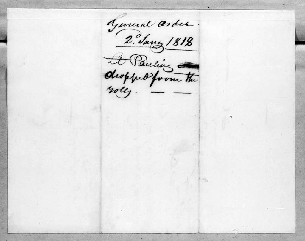 Daniel Parker, January 2, 1818