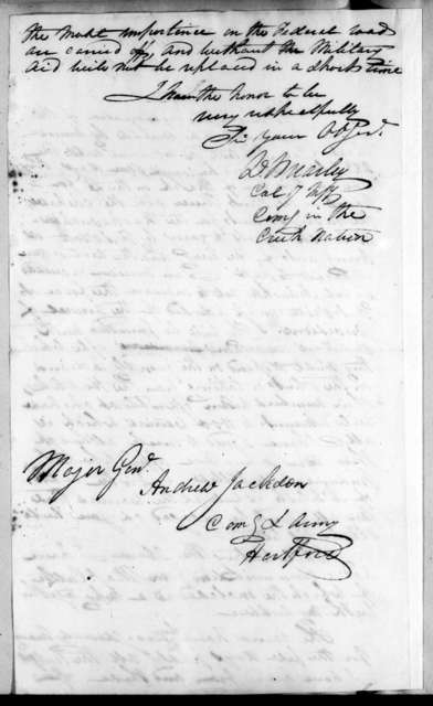David Brearley to Andrew Jackson, February 24, 1818