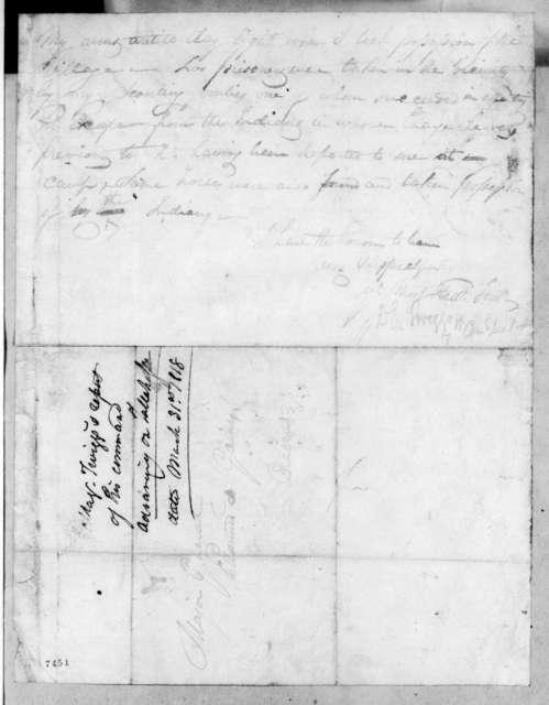 David Emanual Twiggs to Edmund Pendleton Gaines, March 31, 1818