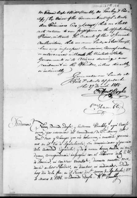 Edmund Doyle, March 27, 1818