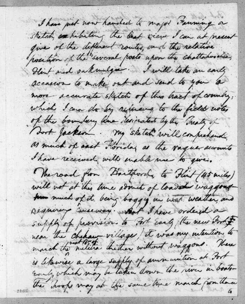 Edmund Pendleton Gaines to Andrew Jackson, February 5, 1818