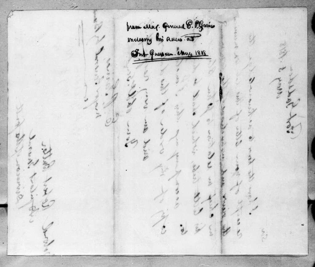 Edmund Pendleton Gaines to Robert Butler, May 5, 1818