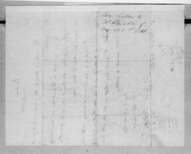 Enos Cutler to Mathew Arbuckle, March 5, 1818